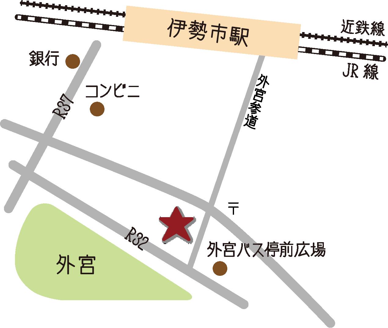Karte rund um das Touristeninformationszentrum von Geku-mae