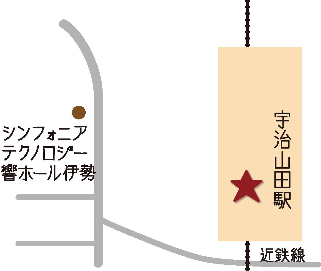Ujiyamada Station Touristeninformationszentrum Karte