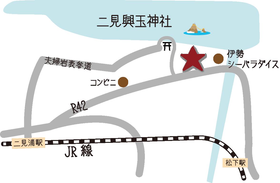 Karte um Ise Meotoiwa Meoto Yokocho