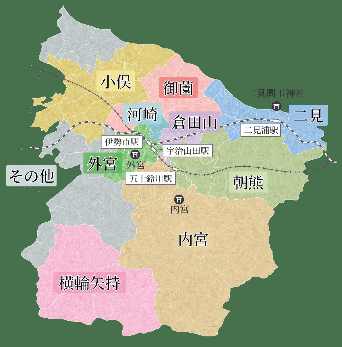 Ise-Gebietskarte