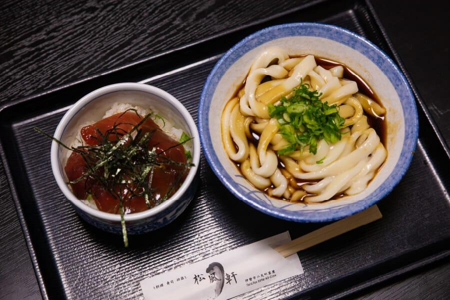 Ise-Shima Set mit Ise Udon und Tekone Sushi